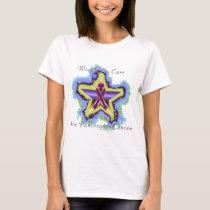 Pancreatic Cancer Wish Star Ladies T-Shirt