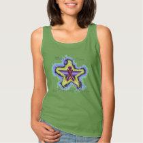 Pancreatic Cancer Wish Star Ladies Tank Top