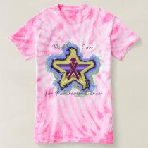 Pancreatic Cancer Wish Star Ladies Tie-Dye Tee