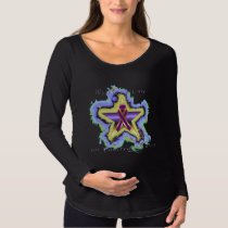 Pancreatic Cancer Wish Star Maternity Long Sleeve Maternity T-Shirt
