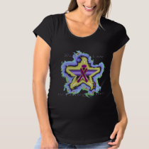Pancreatic Cancer Wish Star Maternity T-Shirt