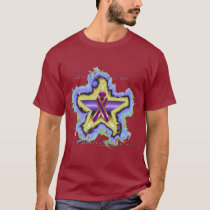 Pancreatic Cancer Wish Star Men's Dark T-Shirt