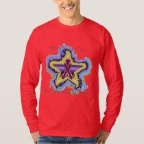 Pancreatic Cancer Wish Star Men's Long Sleeve T-Shirt
