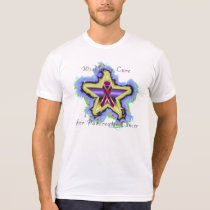 Pancreatic Cancer Wish Star Men's Poly-Cotton Tee