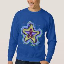 Pancreatic Cancer Wish Star Men's Sweatshirt