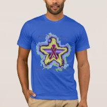 Pancreatic Cancer Wish Star Men's T-Shirt