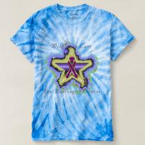 Pancreatic Cancer Wish Star Men's Tie-Dye T-Shirt