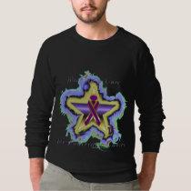 Pancreatic Cancer Wish Star  Raglan Sweatshirt