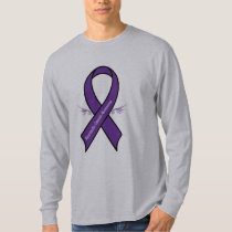 Pancreatic Cancer with Awareness Ribbon with Wings T-Shirt