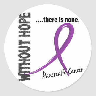 Pancreatic Cancer Without Hope 1 Round Stickers