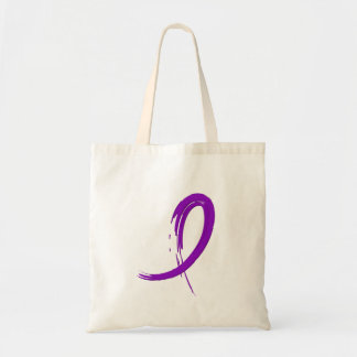 Pancreatic Cancer's Purple Ribbon A4 Budget Tote Bag