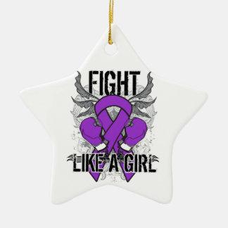 Pancreatitis Ultra Fight Like A Girl Christmas Ornament