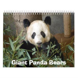 panda117 Giant Panda Bears Wall Calendars
