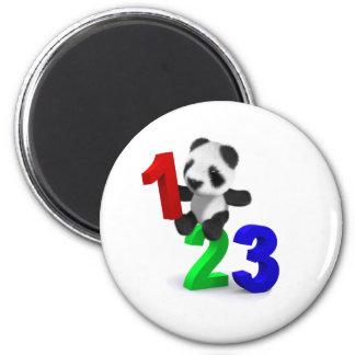 panda 123 del bebé 3d imán para frigorifico