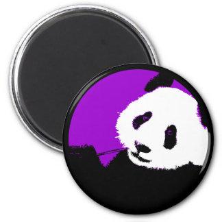 panda. 2 inch round magnet