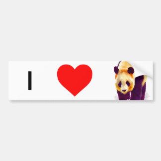 Panda 3 bumper sticker
