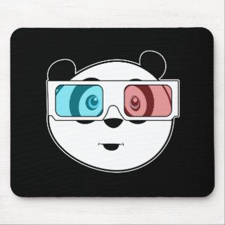 Panda - 3D Glasses (2) Mouse Pad