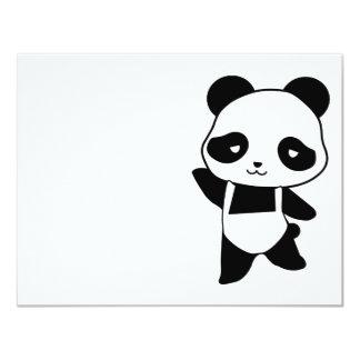 "panda 4.25"" x 5.5"" invitation card"