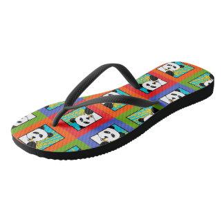 Panda 4-Square Flip Flops