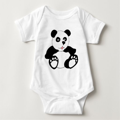 Panda adorable camisas