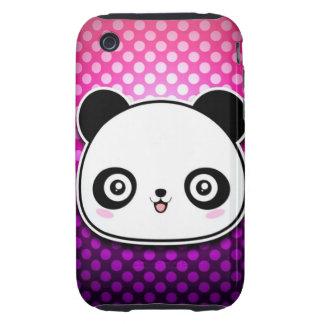 Panda adorable carcasa resistente para iPhone