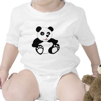 Panda adorable trajes de bebé