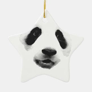 Panda Adorno Navideño De Cerámica En Forma De Estrella