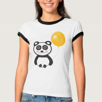 Panda alegre con el globo poleras