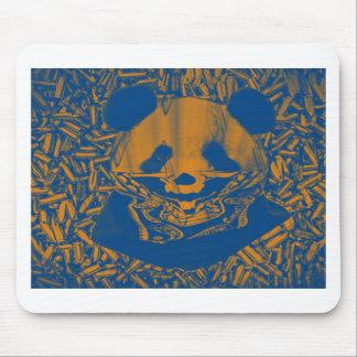 Panda amarilla azulada de Gangsta Alfombrillas De Ratón