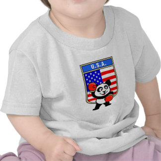 Panda americana del boxeo camisetas