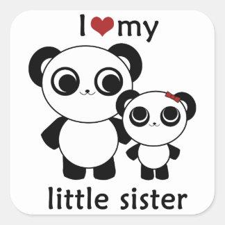 Panda - amor de I mi pequeña hermana - pegatina