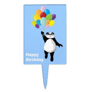 Panda and Balloons Birthday Cake Topper