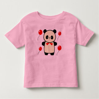 panda and balloons toddler t-shirt