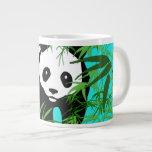 Panda and Bamboo 20 Oz Large Ceramic Coffee Mug