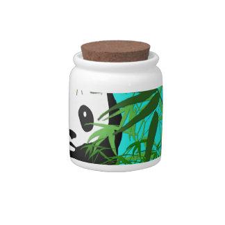 Panda and Bamboo Candy Jars