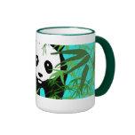 Panda and Bamboo Ringer Coffee Mug