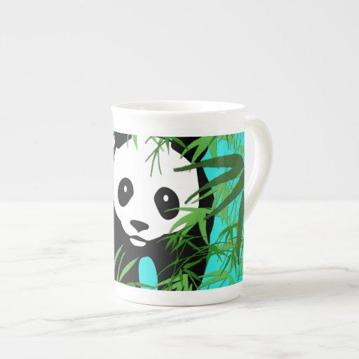Panda and Bamboo Tea Cup