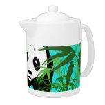 Panda and Bamboo Tea Pot