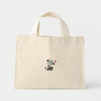 Panda and Butterfly #2 Mini Tote Bag