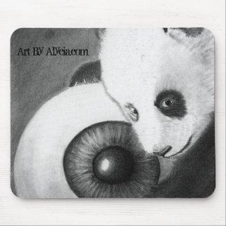 Panda and Eyeball Mouse Pad