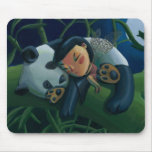 Panda and Fairy Mouse Pad