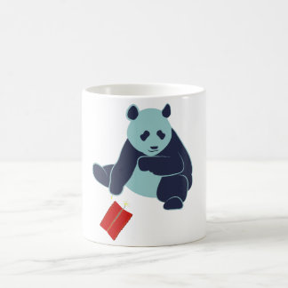 Panda and Fireworks Coffee Cup