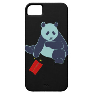 Panda and Fireworks iPhone Case iPhone 5 Cases