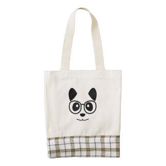 Panda And Glasses Zazzle HEART Tote Bag