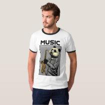 panda and saxophone T-Shirt