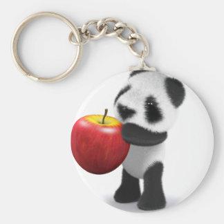 panda Apple del bebé 3d Llaveros