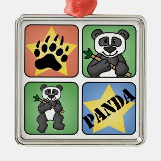 Panda Art Metal Ornament