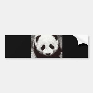 Panda Artwork Bumper Sticker