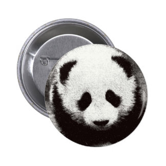 Panda Artwork Pinback Button
