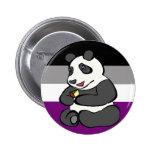 Panda asexual que come la torta pins
